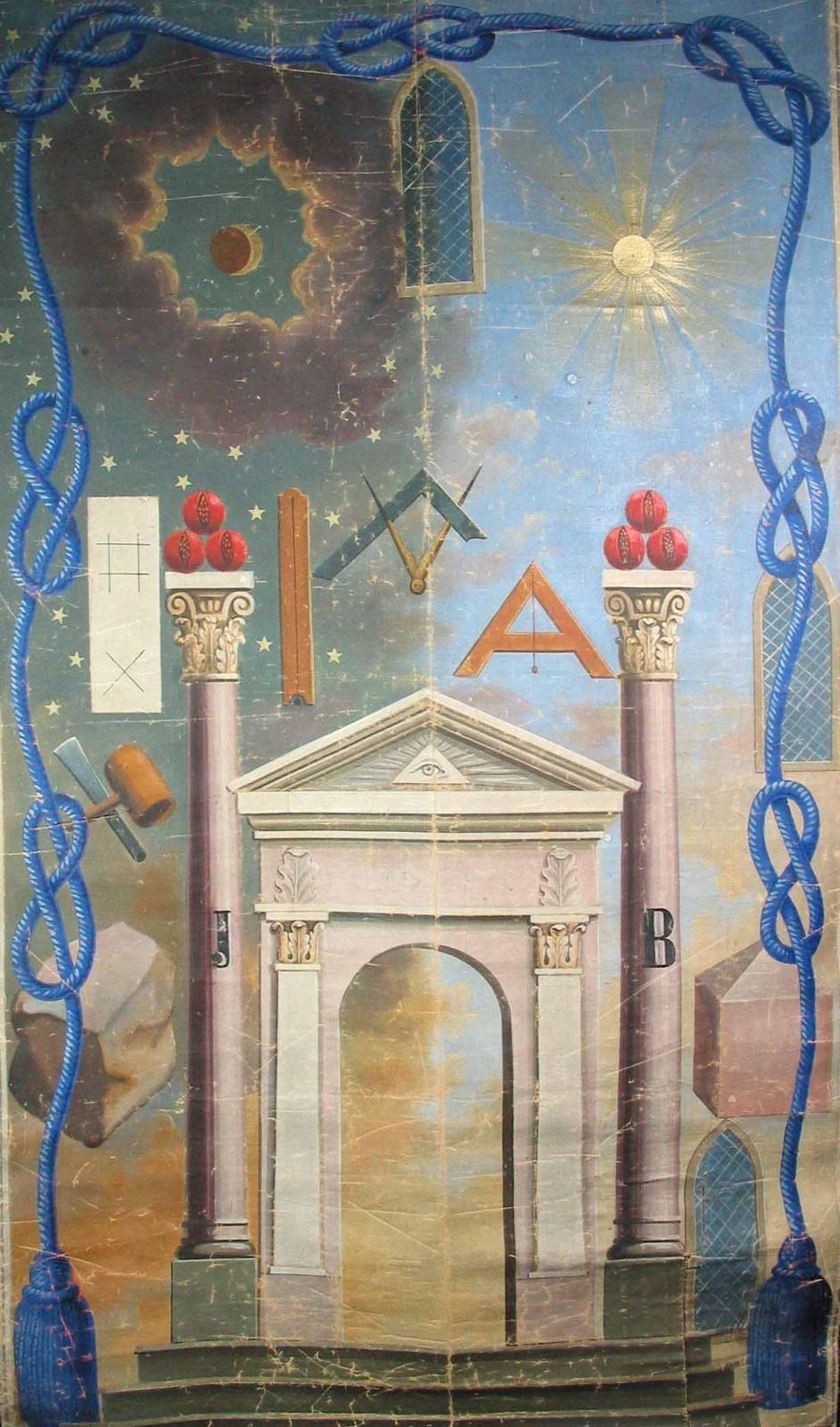 Tableau de loge d'apprenti, fin du XIXe siècle. ©  Musée de la Franc-maçonnerie