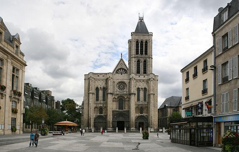 Extérieur de la façade ouest de Basilique royale de Saint-Denis. © Roi Boschi, Wikipédia.