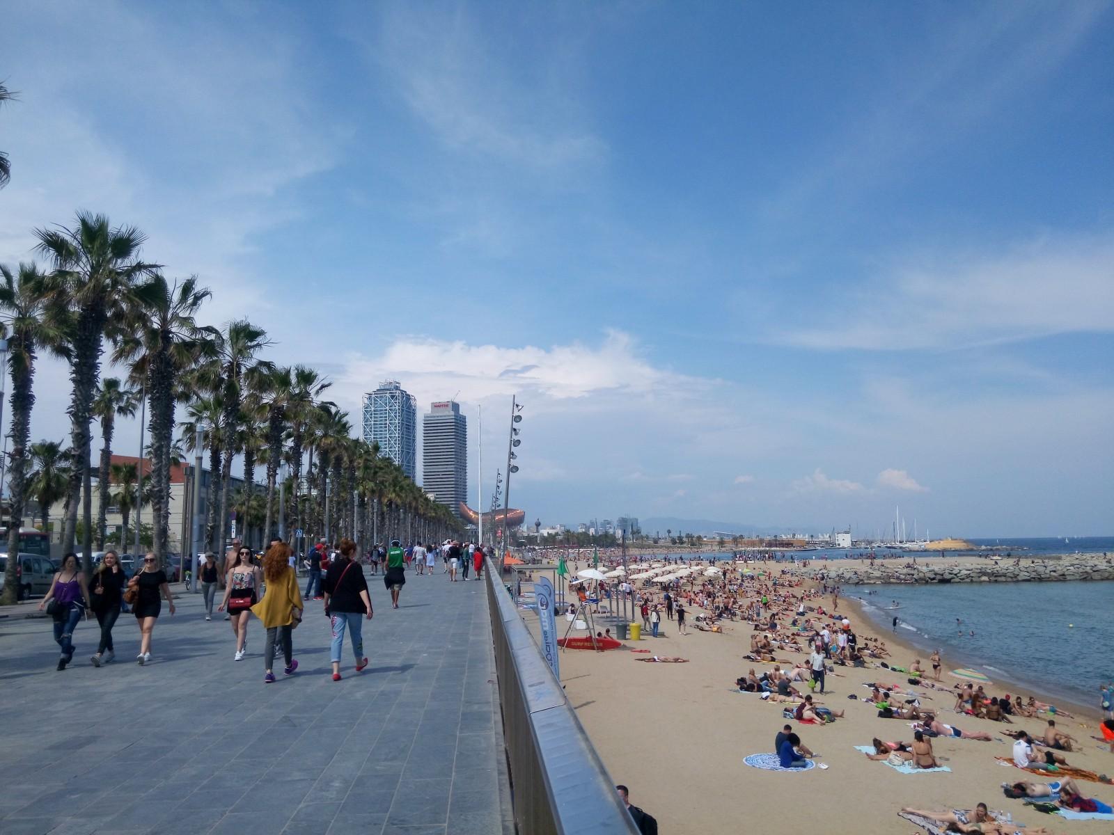 Le front de mer de Barcelone. © Marie Taveau.