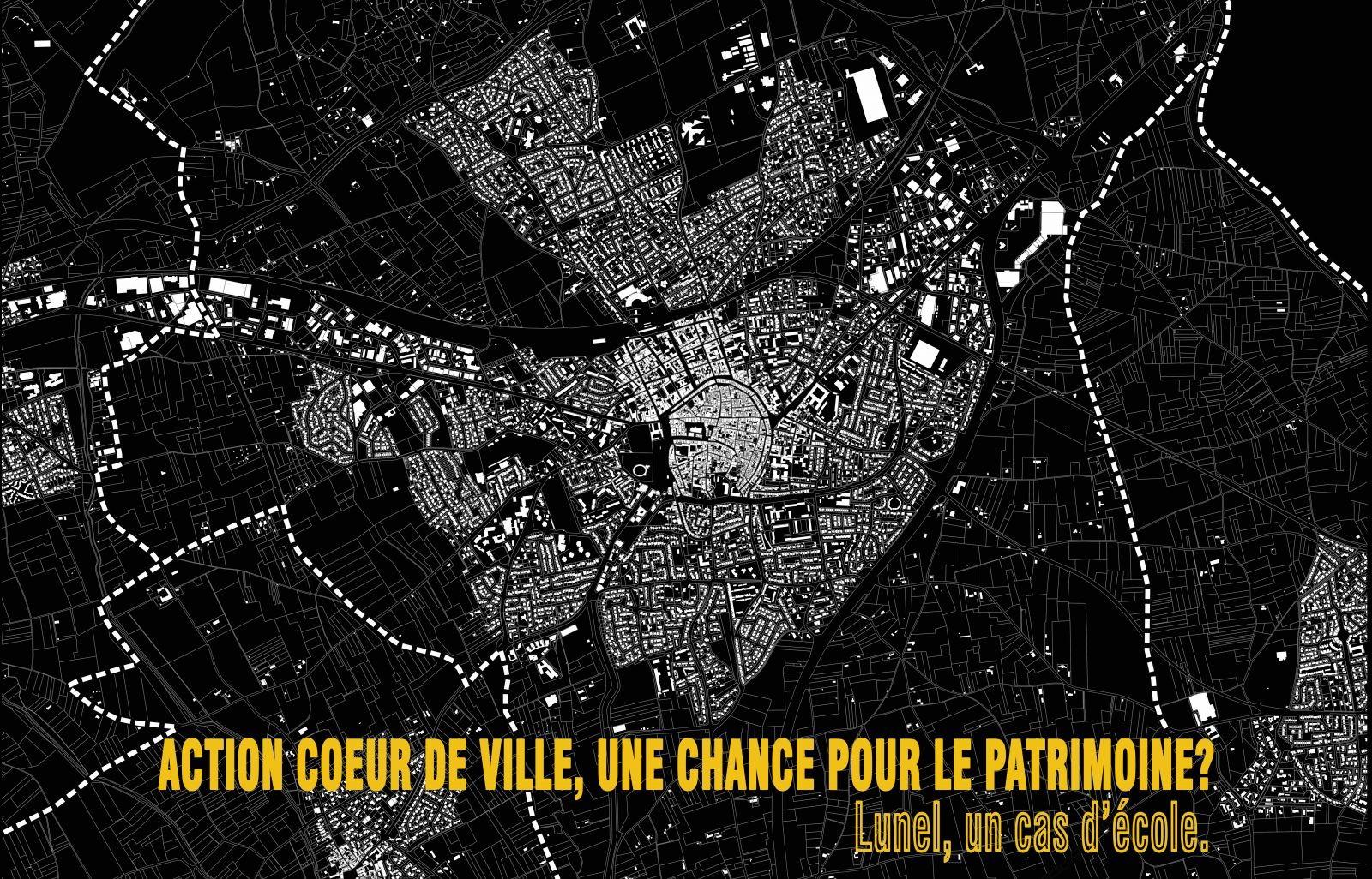 Lunel, extrait du plan cadastral. Source : Joseph Sangenito et Véronique Demange DDTM34.