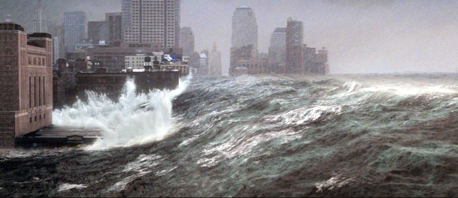 Tsunami à New York…Image tirée du film catastrophe