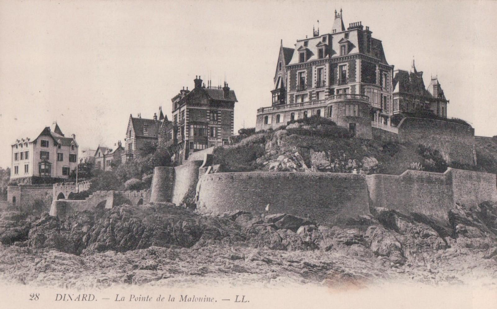 Vue d'ensemble de la villa avec ses imposants murs de soutènement – angle Nord/Est vers 1900 (collection personnelle).