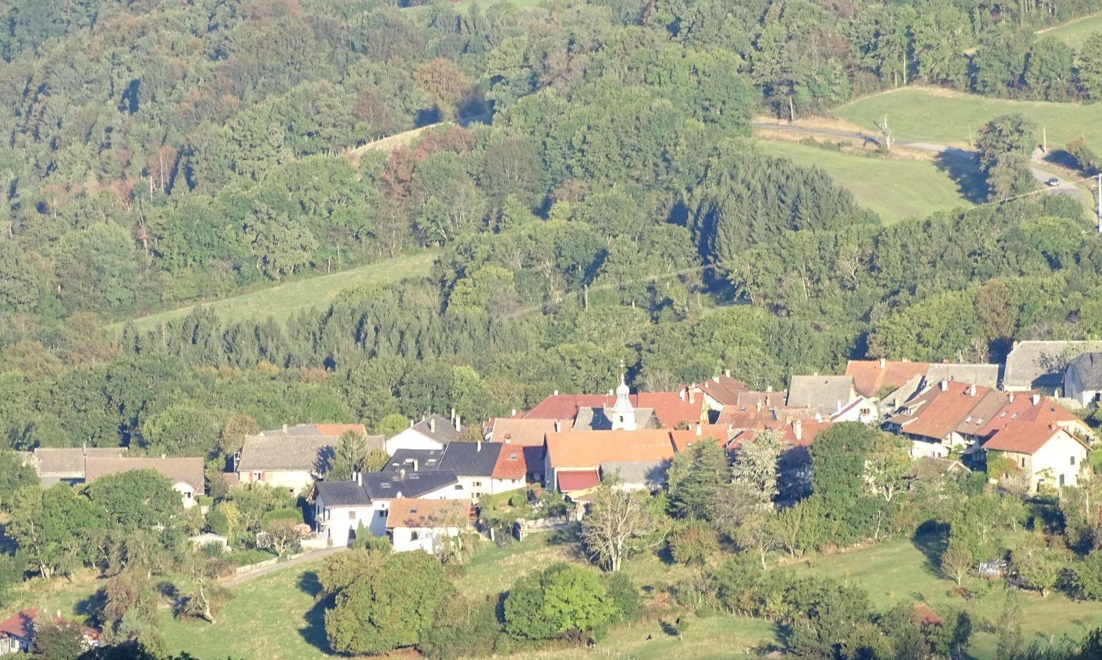 Andilly en genevois, paysage ouvert à proximité du col du Mont Sion, exceptionnellement préservé de l'étalement urbain genevois.