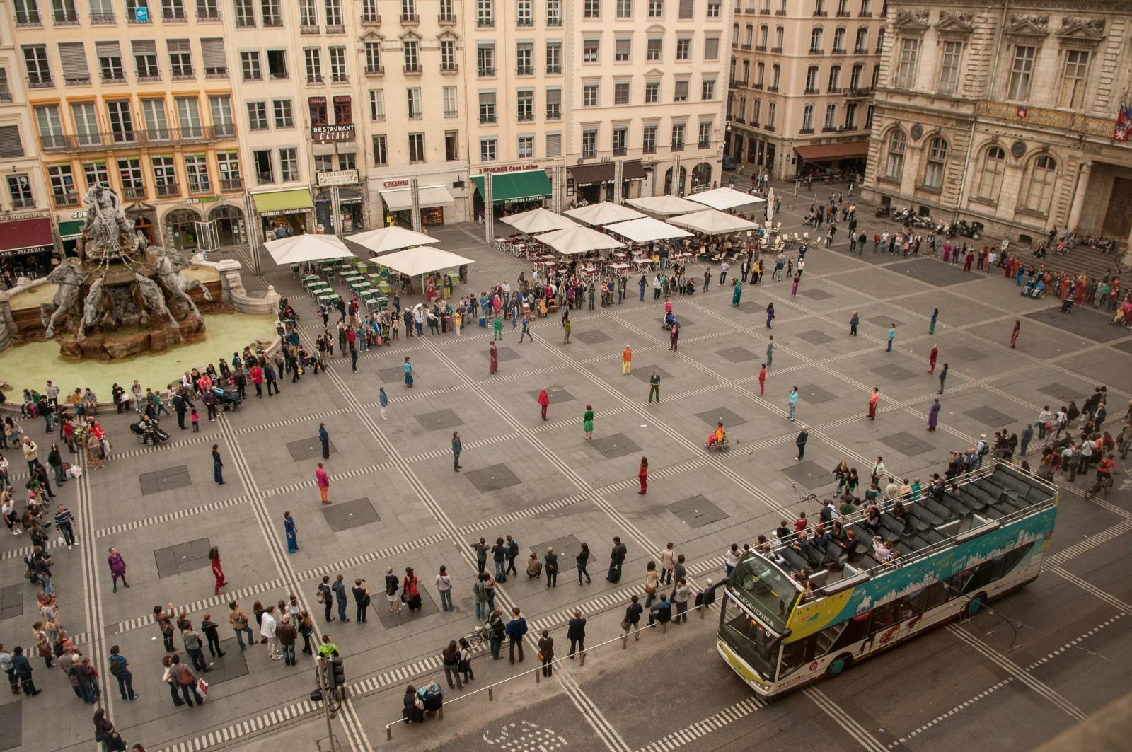 Changement d'usage et transformation, place des Terreaux à Lyon. © Ph. C