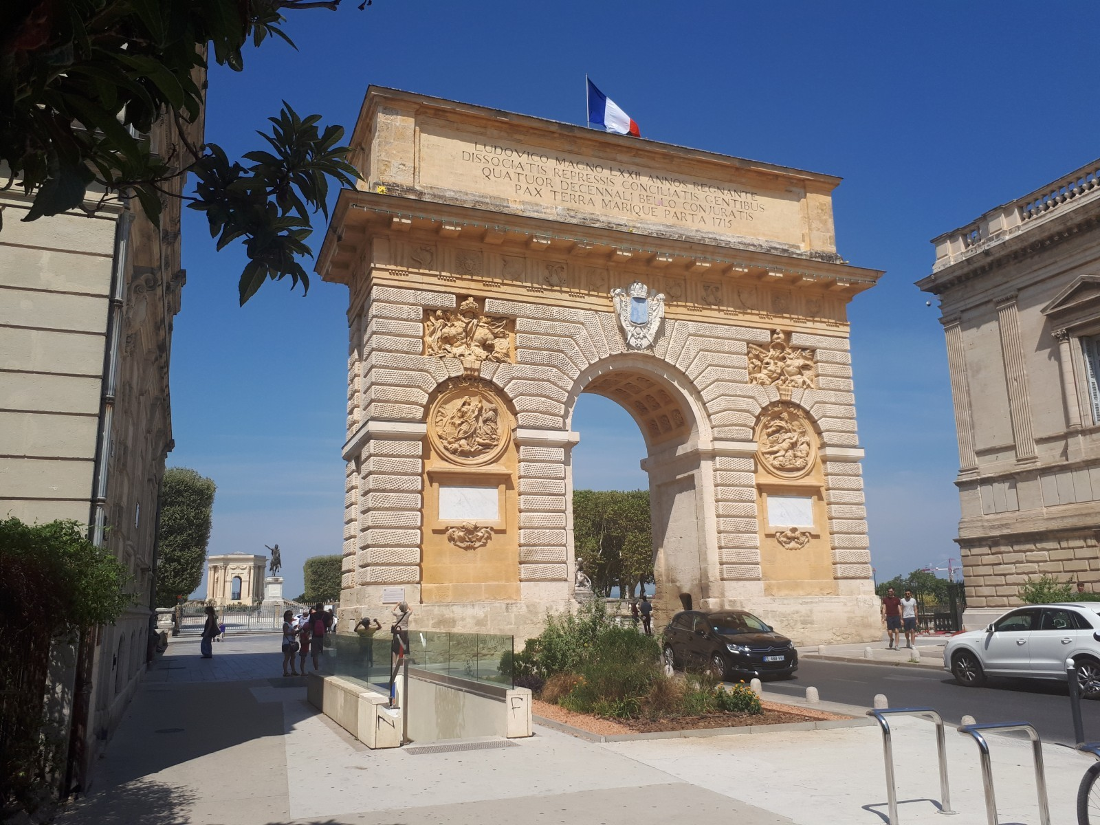 L'arc de triomphe de Montpellier. © Éric Monnet.