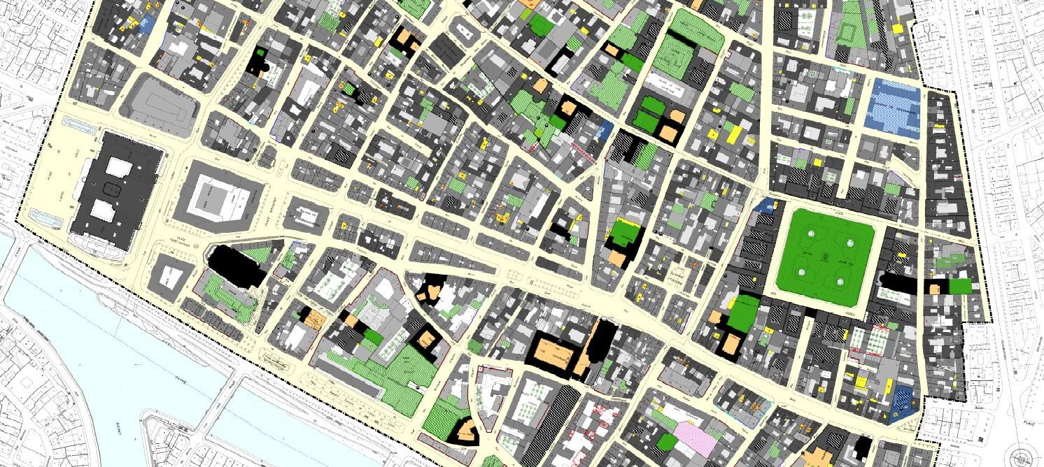 Zoom du plan de sauvegarde et de mise en valeur révisé du Marais.  © Cabinet Blanc-Duché