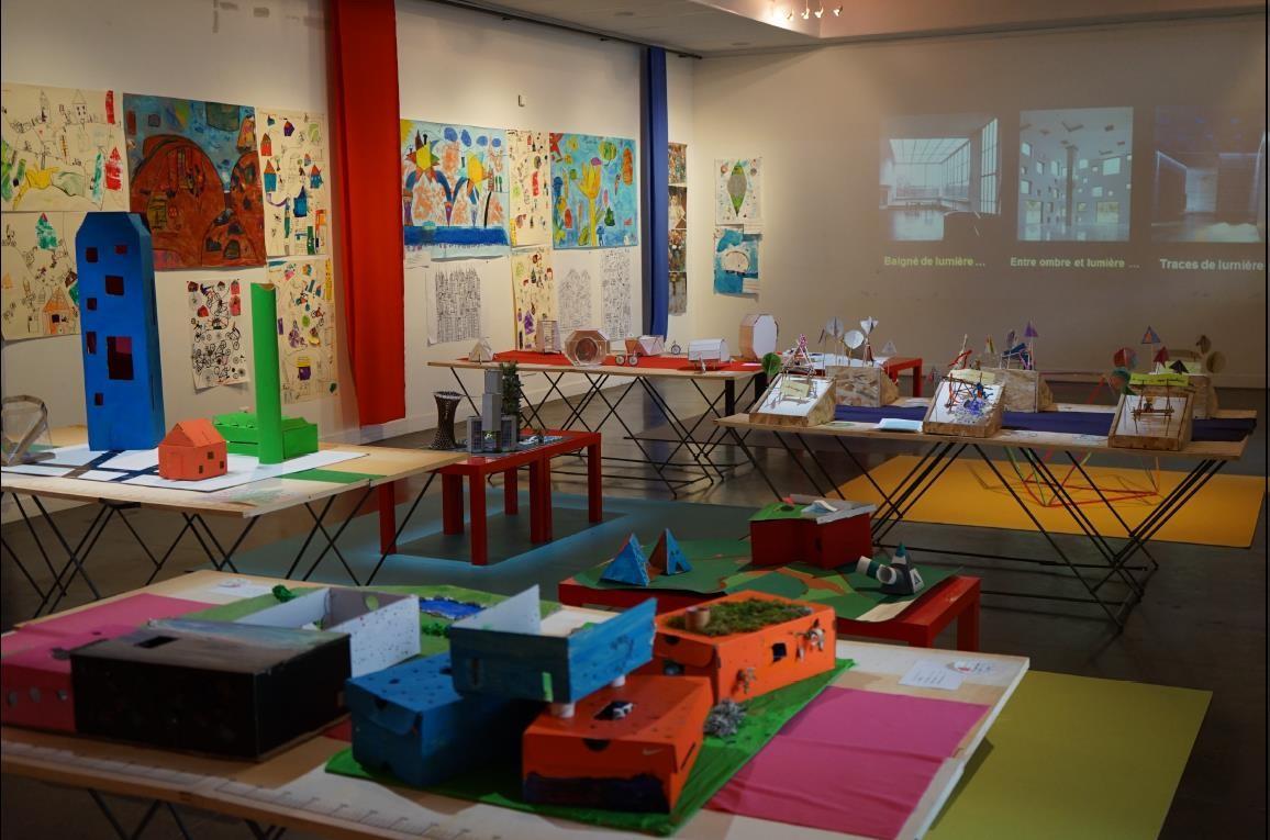 Colorfully : exposition de restitution des travaux d'ateliers  © Blandine Goin - ENSASE.