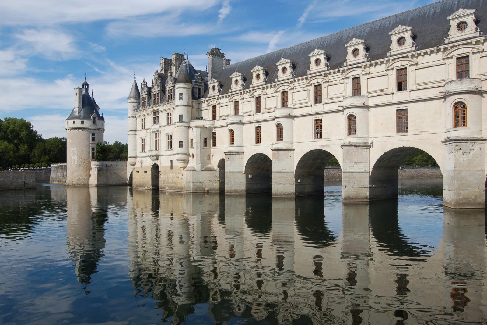 Château de Chenonceau en Indre-et-Loire. © Wladyslaw. Source : Wikimedia.