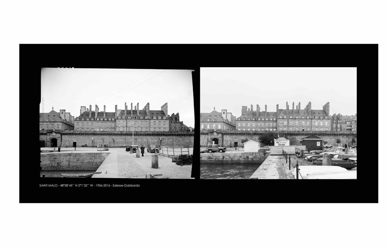 Façade Sud, les immeubles de granit des armateurs. Image diffusée par Denis Gabbardo.